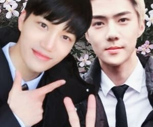 exo, kase, and sehun image