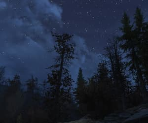 clouds, dark blue, and fallout image