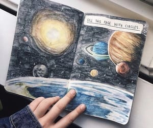 art, planet, and galaxy image