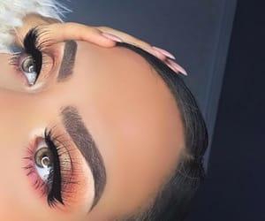 art, eyeshadow, and false lashes image