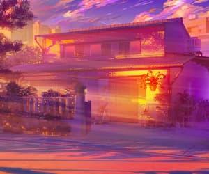 anime, anime landscape, and anime scenery image
