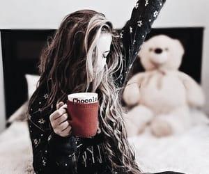 girl, christmas, and bear image