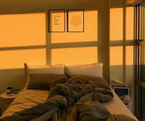 bed, bedroom, and sunshine image
