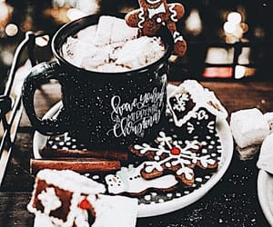 candy cane, coffee, and Cookies image