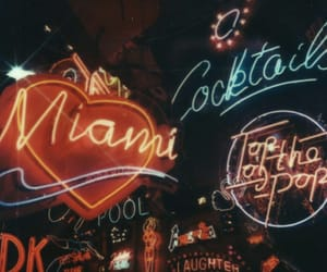 heart, neon lights, and night image