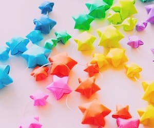 stars, colorful, and paper stars image