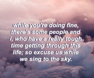 aesthetic, clouds, and quote image