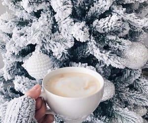christmas, tree, and coffee image