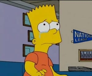 bart simpson, cry, and depressed image