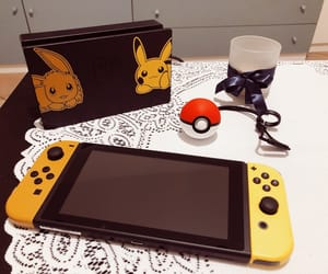 girl, nerd, and pikachu image