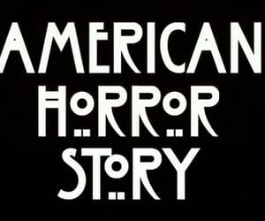 black, white, and american horror story image
