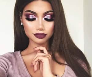 girls, glitter, and make up image