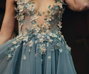 aesthetic, blue dress, and fashion image