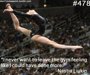 fit, gymnastics, and quote image