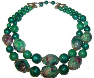 etsy, 1940s necklace, and art deco beads image