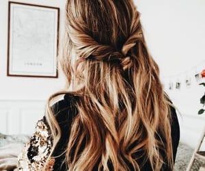 braid, blonde, and blonde hair image