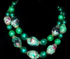 beaded necklace, etsy, and vintage jewelry set image