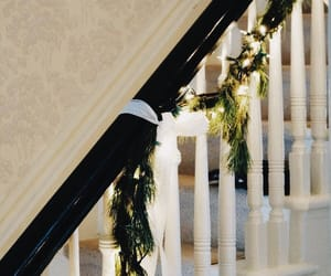 stairs, winter, and christmas image