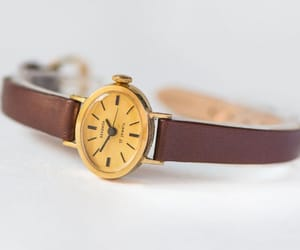 etsy, gold jewelry watch, and wristwatch vintage image