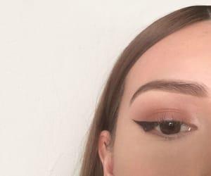 brown, natural makeup, and eyebrows image