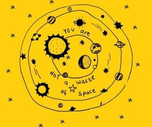 yellow, wallpaper, and space image