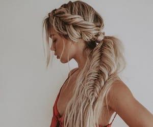 hair, girl, and trenza image