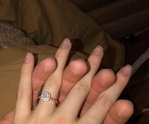 beautiful, diamond, and engaged image