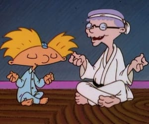 hey arnold, meditation, and arnold image