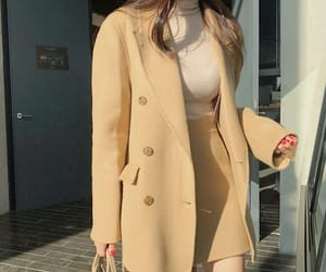 asian fashion, korean fashion, and outerwear image