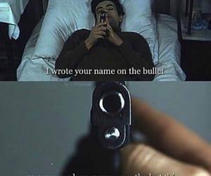 bullet, sad, and gun image