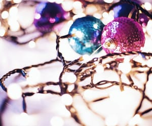 aesthetic, lights, and ornaments image