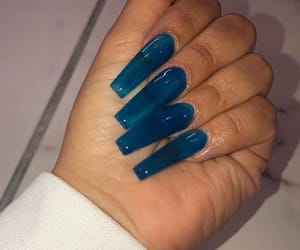 nails, blue, and gel image