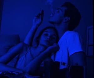 couple, love, and smoke image
