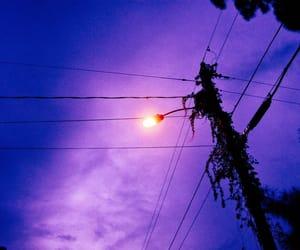 night, night time, and street light image
