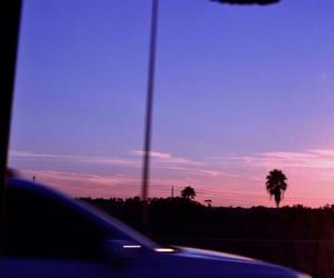 car, sunset, and fl image