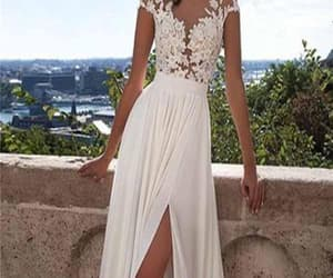 white wedding dresses, sexy party dresses, and party dresses lace image