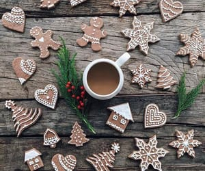 Cookies, coffee, and winter image