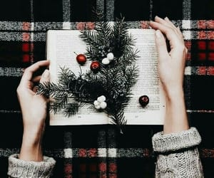 christmas, winter, and book image