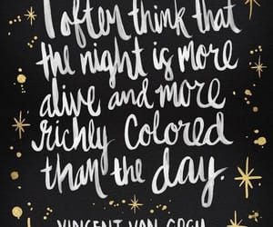 quotes, night, and van gogh image