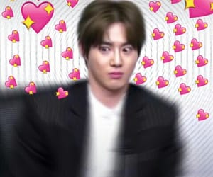 reaction pics, kpop hearts, and kings legends image