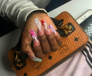 acrylics, claws, and design image