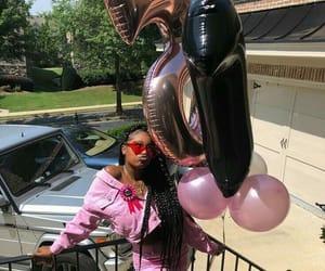 balloons, birthday, and birthday girl image