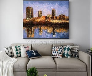 Abstract Painting, painting on canvas, and homedecor image