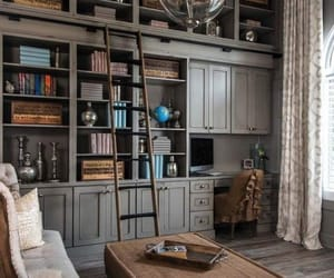 home decor, home office, and home library image