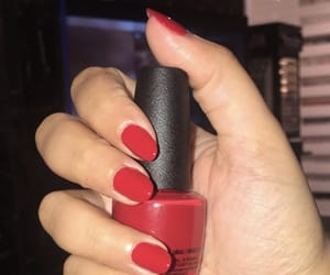 nails, red, and lové image