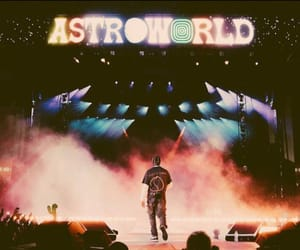 travis scott, astroworld, and concert image