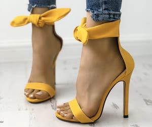yellow, fashion, and heels image