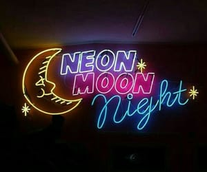 neon, moon, and light image