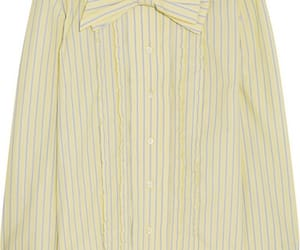 Prada, striped cotton, and bow-embellished image