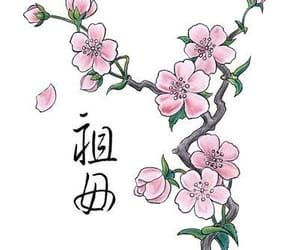 cherry blossom, drawing, and tattoo image
